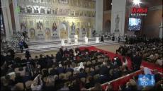 """Franciszek w Rumunii:  Modlitwa """"Ojcze nasz"""" w nowej katedrze prawosławnej"""