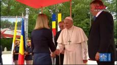 Franciszek w Rumunii: Ceremonia powitania